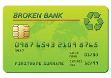 Kreditkarte mit der Wiederverwertung des Symbols Lizenzfreies Stockbild