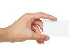 Kreditkarte mit leerer Platzhandholding Lizenzfreies Stockfoto