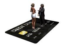 Kreditkarte mit Personen im Geschäft Stockbilder