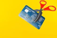 Kreditkarte mit Scheren vektor abbildung