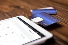 Kreditkarte-Schlag-Leser lizenzfreies stockbild