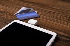 Kreditkarte-Schlag-Leser stockfotografie