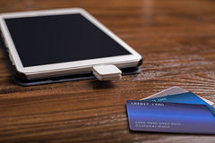 Kreditkarte-Schlag-Leser stockfotos