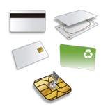 Kreditkarte sicher u. sim Stockfotos