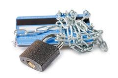 Kreditkarte-Sicherheit, sicherer Handel Lizenzfreies Stockfoto