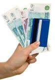 Kreditkarte und Bezeichnungen Lizenzfreies Stockbild