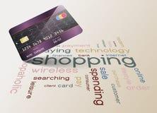 Kreditkarte und Einkaufskonzept Lizenzfreie Stockfotografie