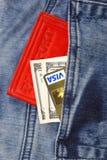 Kreditkarte und Geld Lizenzfreie Stockfotografie