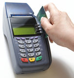 Kreditkarte-Verkauf Lizenzfreie Stockbilder