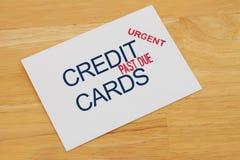Kreditkarte-Zahlung überfällig Stockfotografie