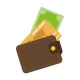 Kreditkarteikone Stockfoto