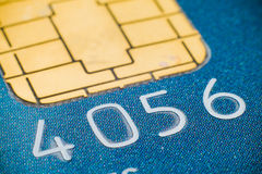 Kreditkartemikrochip Stockbild