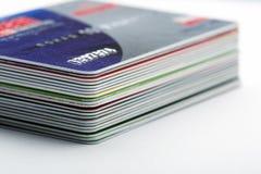 Kreditkarten Lizenzfreies Stockfoto