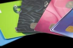 Kreditkarten. Stockbilder