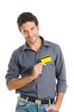 Kreditkarteneigung Stockfoto