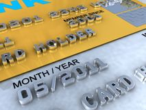 Kreditkarteplatin-Nahaufnahmeabbildungen Stockfoto