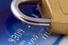 Kreditkartesicherheit stockbilder