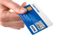 Kreditkartezahlen Stockbild