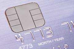 Kreditkort med mikrochipen Arkivfoto