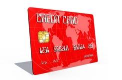 Kreditkort på vitbakgrund Royaltyfria Foton
