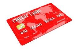 Kreditkort på vitbakgrund Arkivbilder