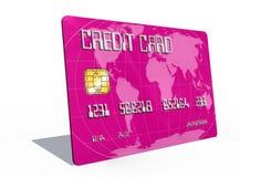Kreditkort på vitbakgrund Arkivfoto