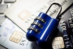 Kreditkort som phishing Arkivfoto