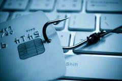 Kreditkort som phishing Royaltyfri Foto