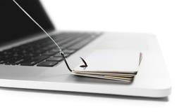 Kreditkort som phishing Royaltyfria Foton