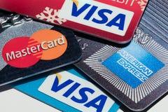 Kreditkortar Arkivbild