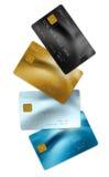 Kreditkortar Arkivfoto