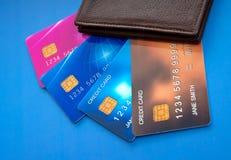Kreditkortar Royaltyfri Bild