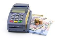 Kreditkortavläsare Arkivbild