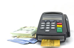 Kreditkortavläsare Arkivfoton