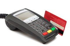 Kreditkortbetalningterminal Arkivbild