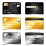 Kreditkortdesign Fotografering för Bildbyråer