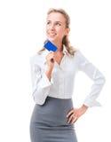 Kreditkorten är den perfekta lösningen royaltyfri foto