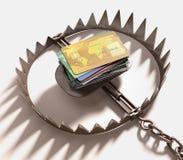 Kreditkortfälla Arkivfoto
