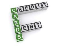 Kreditkortskuld vektor illustrationer
