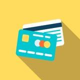 Kreditkortsymbol i plan stil Royaltyfri Fotografi
