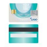 Kreditkortsymbol som isoleras på vit Royaltyfri Bild