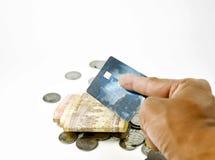 Kreditkorttransaktion Arkivfoto