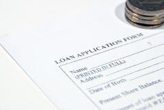 Kreditvorlage lizenzfreies stockfoto