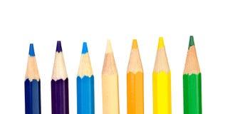 Kredka barwioni ołówki obraz stock
