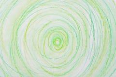 Kredka okręgi na papierowej rysunkowej bacground teksturze Obrazy Stock