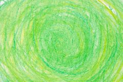 Kredka okręgi na papierowej rysunkowej bacground teksturze Obraz Stock