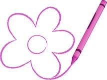 kredka rysujący kwiatu ilustraci wektor ilustracja wektor