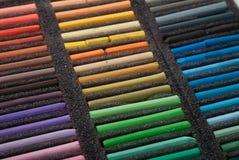 Kredki, barwioni ołówki, barwioni pastele, Zdjęcia Stock