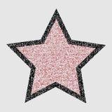 Kredki gwiazda na białym tle Zdjęcie Stock