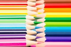 kredki kolorowe ołówki kolor tła asortymentu kolorowe ołówki Obraz Royalty Free